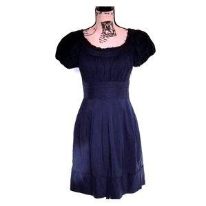 BCBGMaxAzria black dress size 4 raw edge detail